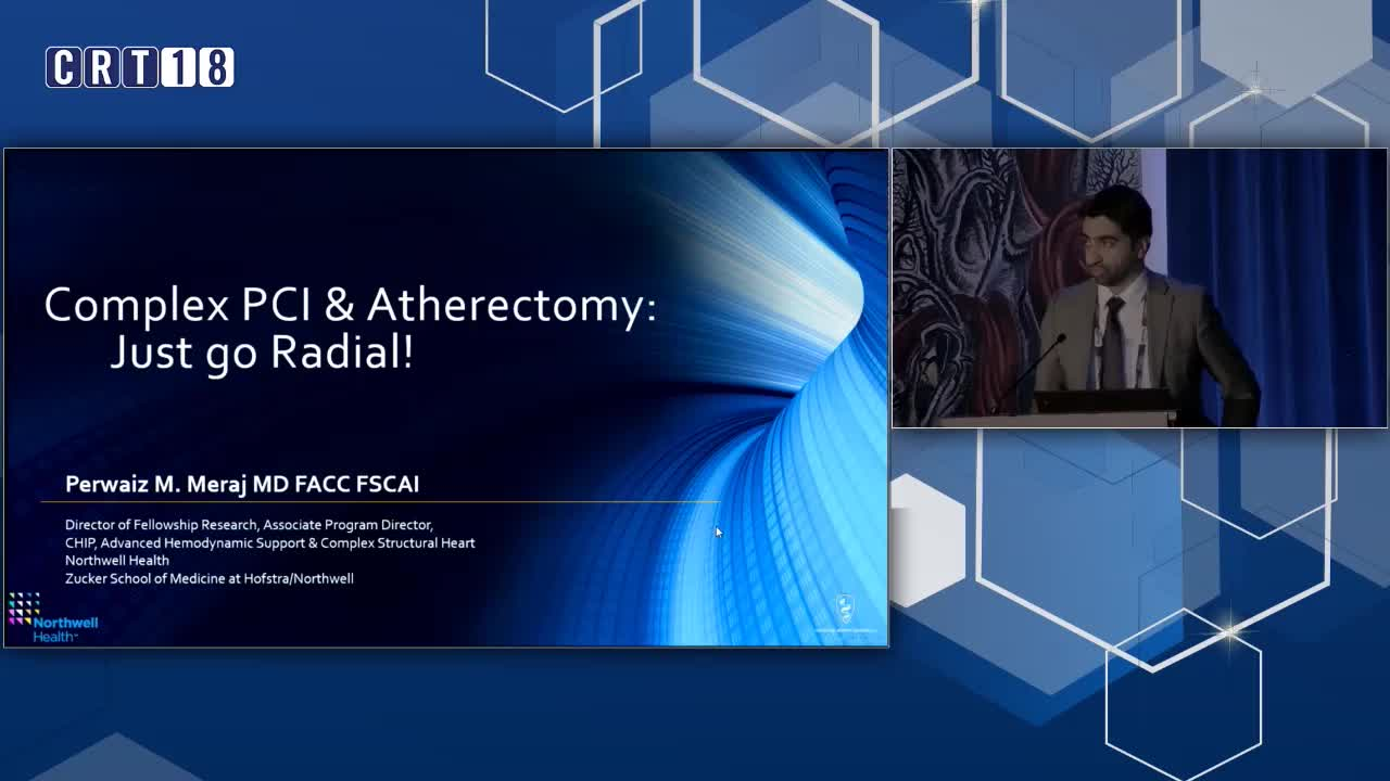 Complex PCI and Atherectomy: Radial Should be the First Option